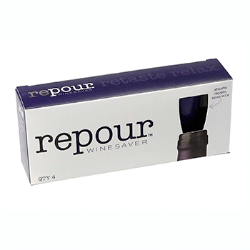 4-pack of Repour Wine Savers